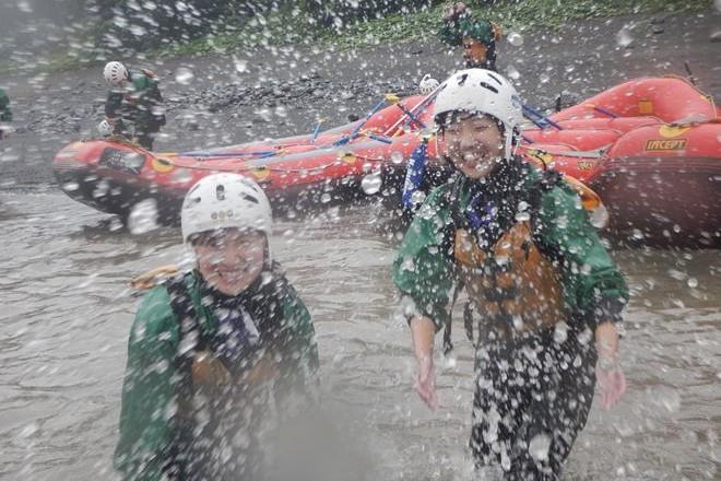 水かけ 富士宮ラフティング