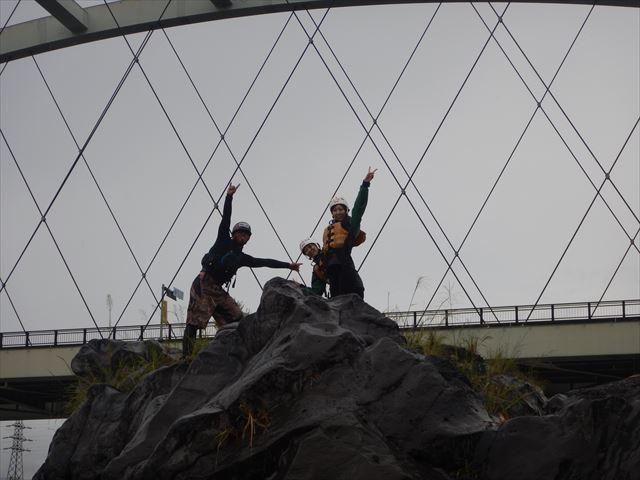 飛び込み 蓬莱橋下