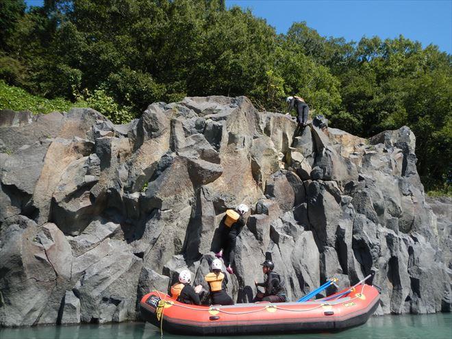 岩登り ロッククライミング富士川