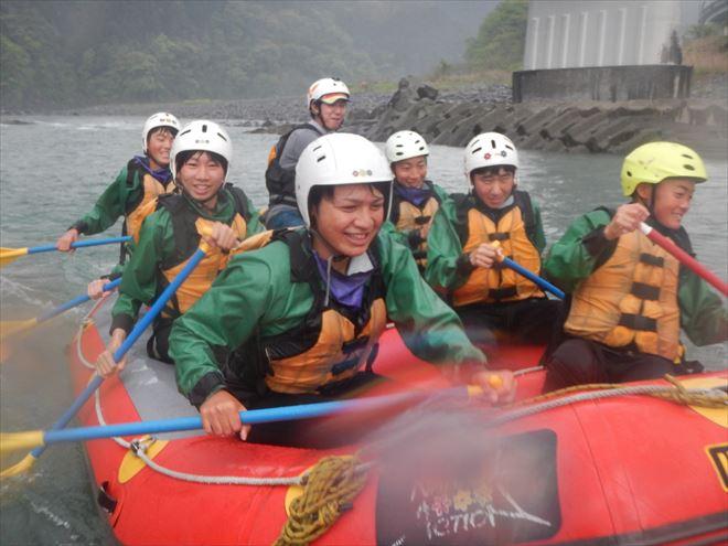 富士川 ラフティング 教育旅行