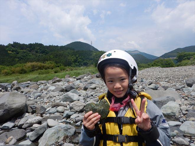 ハートの石 稲子川探検