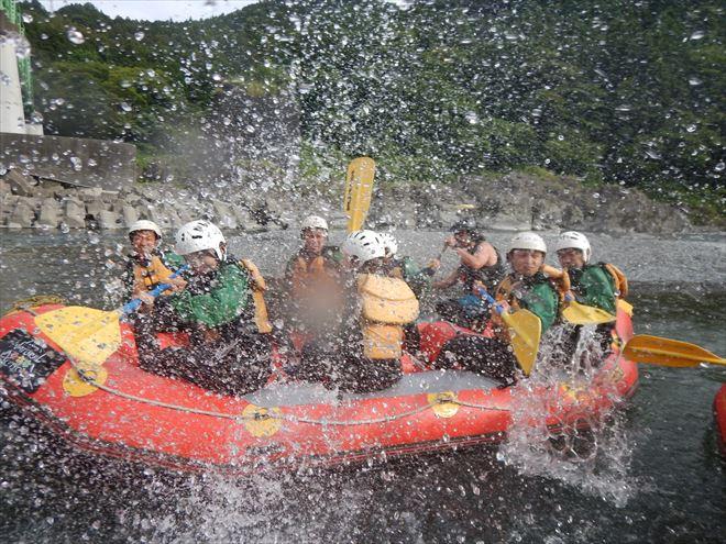 水遊び ラフティング 静岡