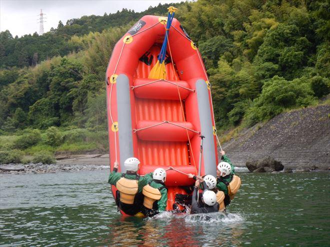 ボートゲーム ラフティング半日 富士川