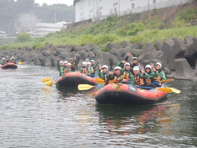 ラフティング 教育旅行 静岡