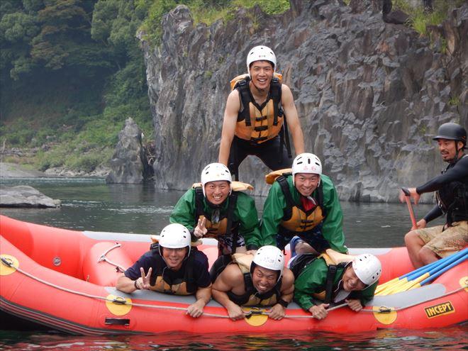 組体操 ボート遊び 川 富士川