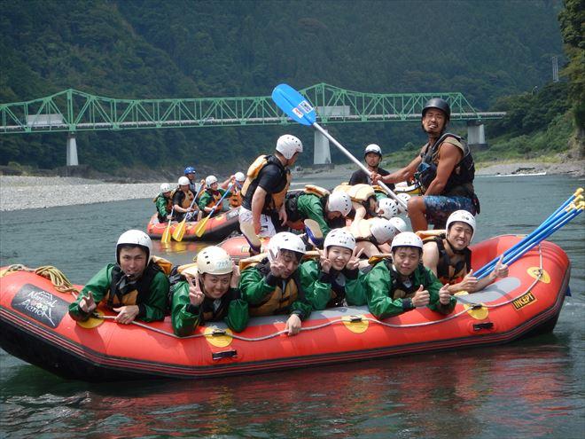 半日静岡ラフティング 午前ツアー 富士川コース