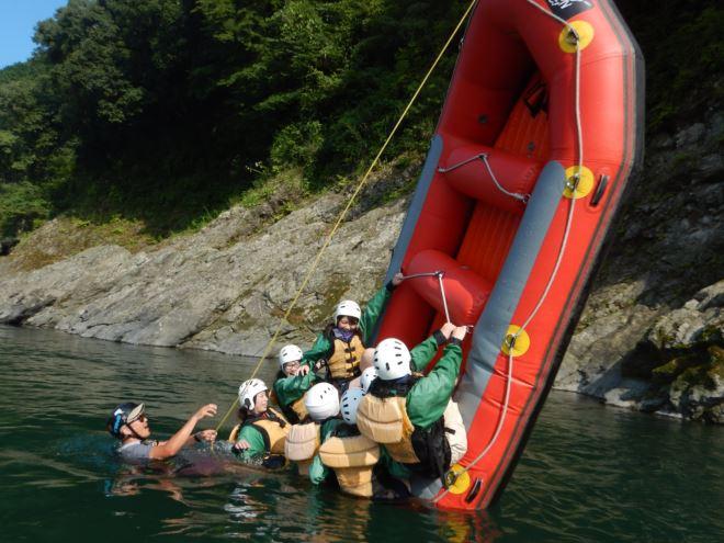 ボート遊び 富士川ラフティング