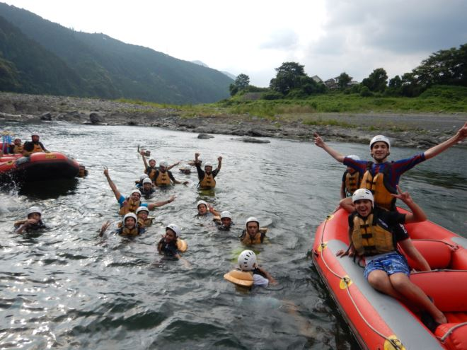 静岡 ラフティング 富士川