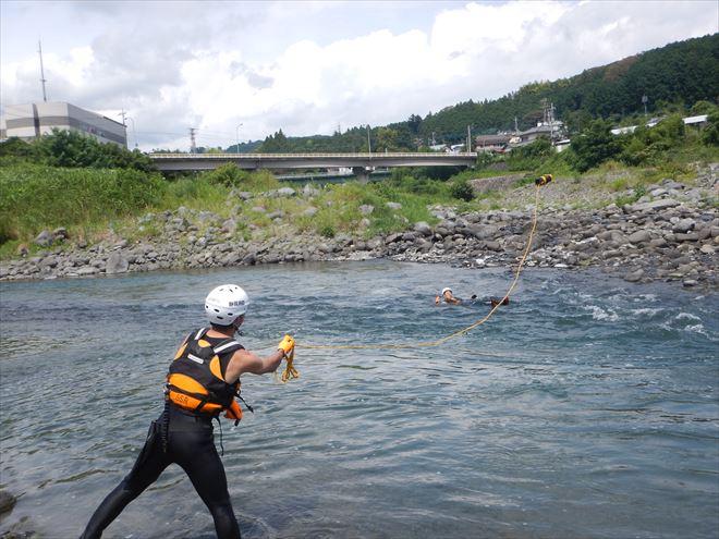 静岡 富士川 水難救助