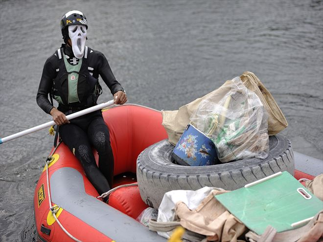 静岡 河川清掃 富士川