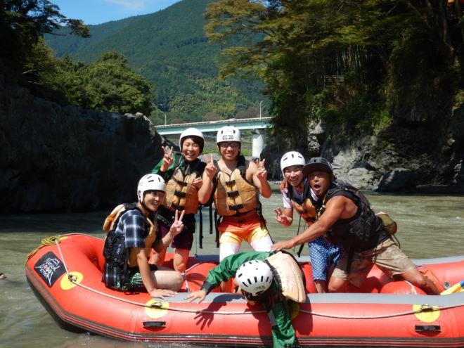 富士川 ラフティング 楽しい