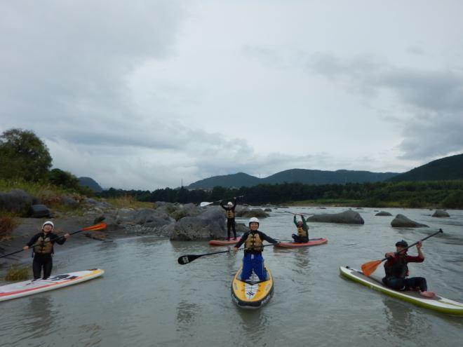富士川でSUP遊び リバーSUP 1日コース