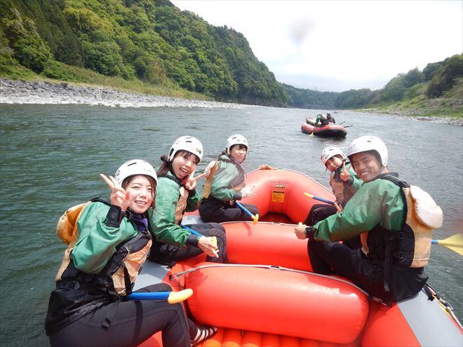 富士川下り 半日ラフティング