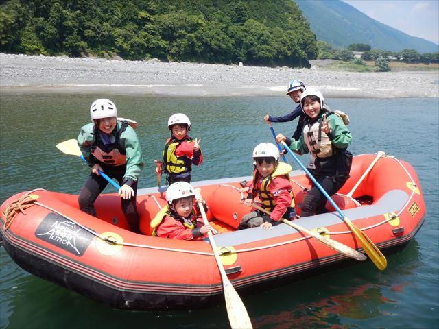 家族でアウトドア 富士川ファミリーラフティング