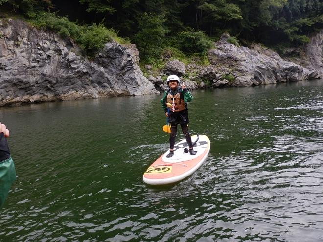静岡県富士川でSUP