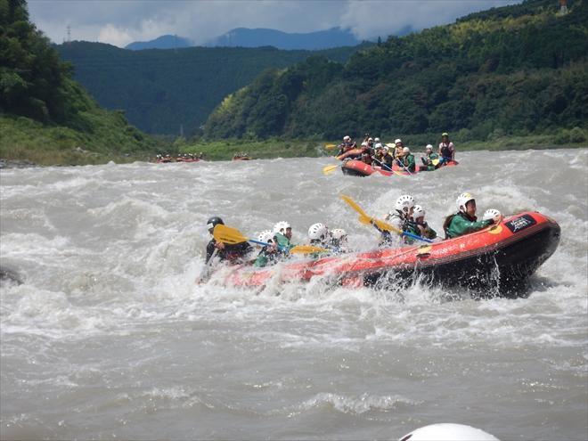 富士川激流体験 今がチャンス