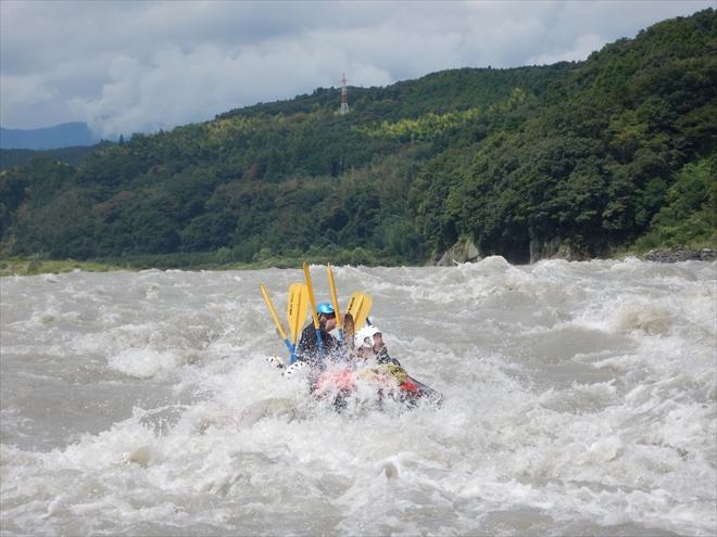 水量アップ 富士川増水