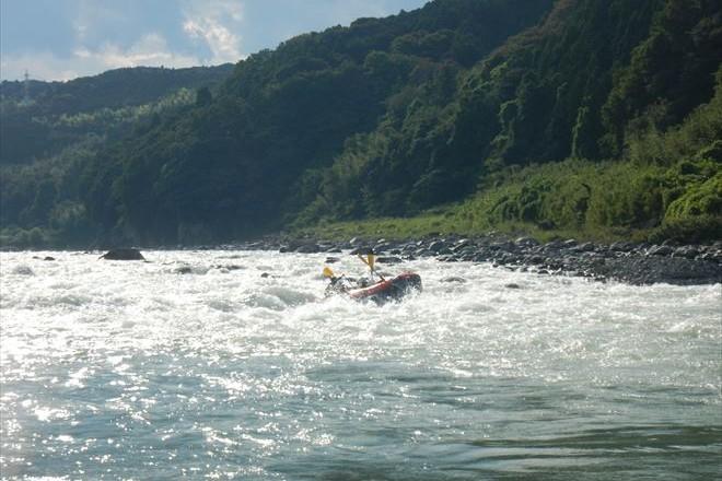 富士川の急流 わしゃわしゃ