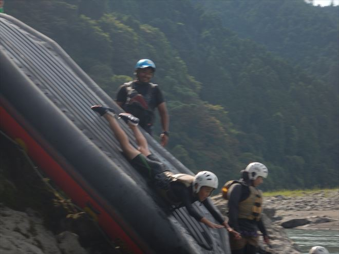 スーパーマン滑り台 逆さで滑る