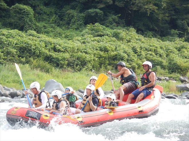 激しい急流 激流富士川