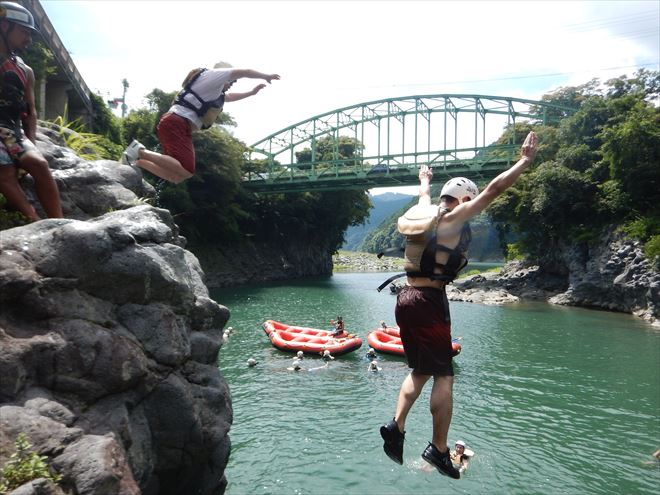 富士川へジャンプ 高所恐怖症
