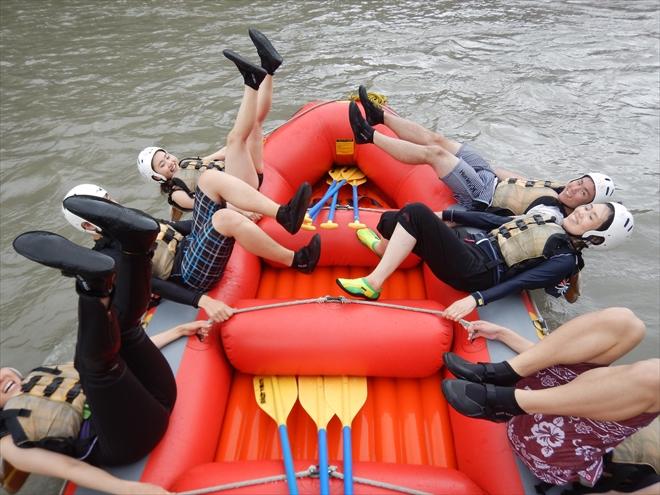 バランスゲーム 川に落ちる