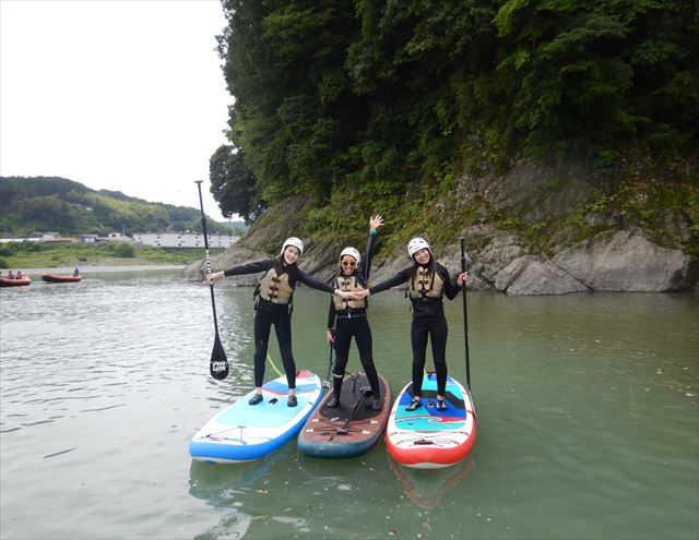 富士川でリバーSUP