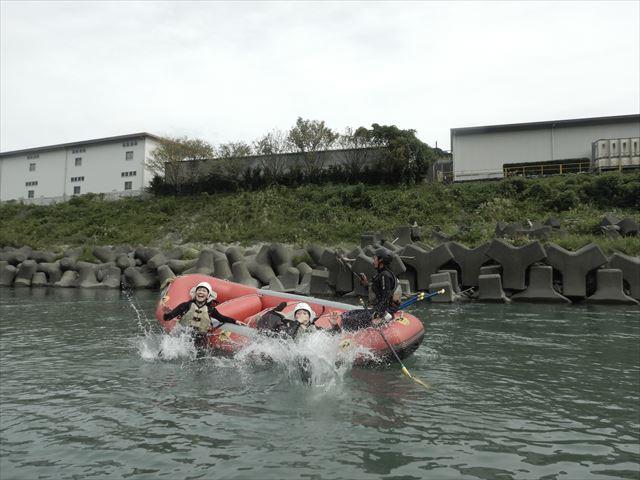 富士川 ラフティング ボート